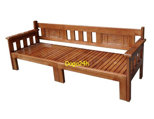 Ghế Sofa Giường Gỗ Mau Canh Gian